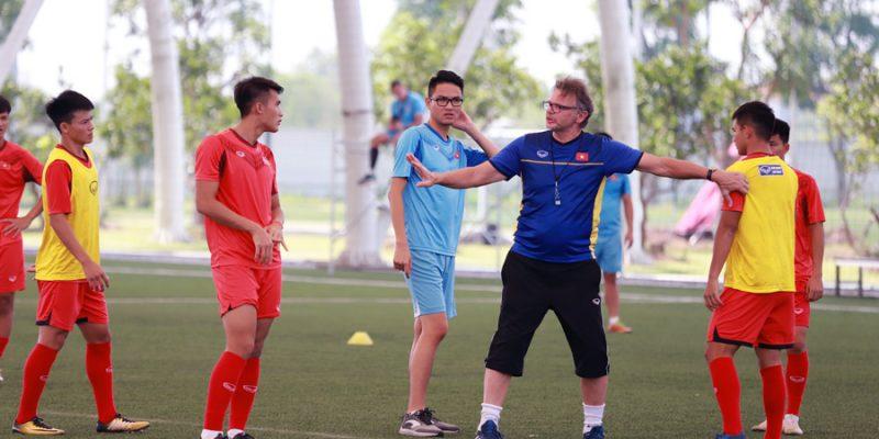 Các cầu thủ U19 Việt Nam trong chuyến tập huấn tại Qatar 2018