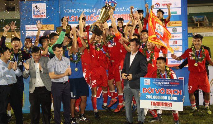 Giải đấu U21 Quốc Gia, U21 Viettel giành chức vô địch khi chiến thắng U21 SLNA.